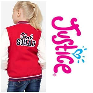 Justice girls squad varsity jacket 12 14 Large